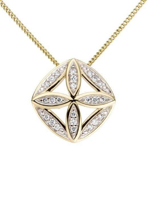 Damen Vivance jewels  Kettenanhänger mit Brillanten gold   04041633037328