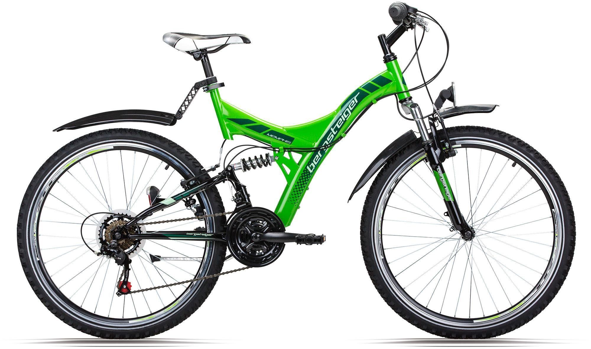 bergsteiger Mountainbike »Memphis«, 21 Gang Shimano Tourney RD-TZ50 Schaltwerk, Kettenschaltung