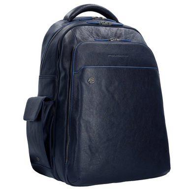43 Leder Rucksack Piquadro Square Laptopfach Business Special Blue Cm xSqYU