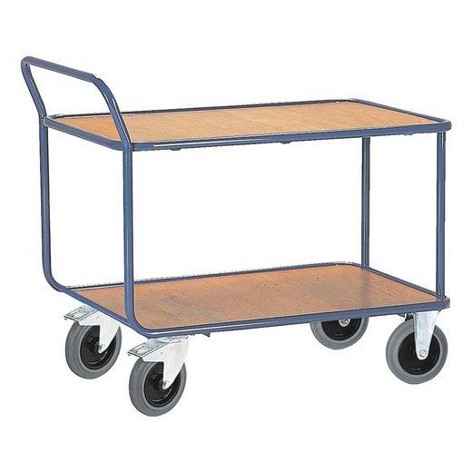 ROLLCART Tischwagen mit 2 Etagen 120 x 80 cm