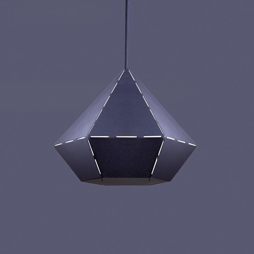 Licht-Trend Pendelleuchte »Diamond Design Ø 25cm in Schwarz«