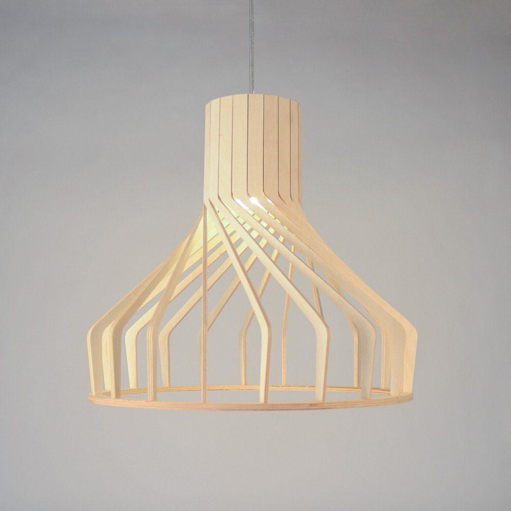 Licht-Trend Pendelleuchte »Woody Holz Ø 38cm in Buche«
