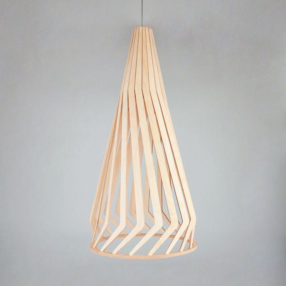 Licht-Trend Pendelleuchte »Woody Holz Ø 34cm in Buche«