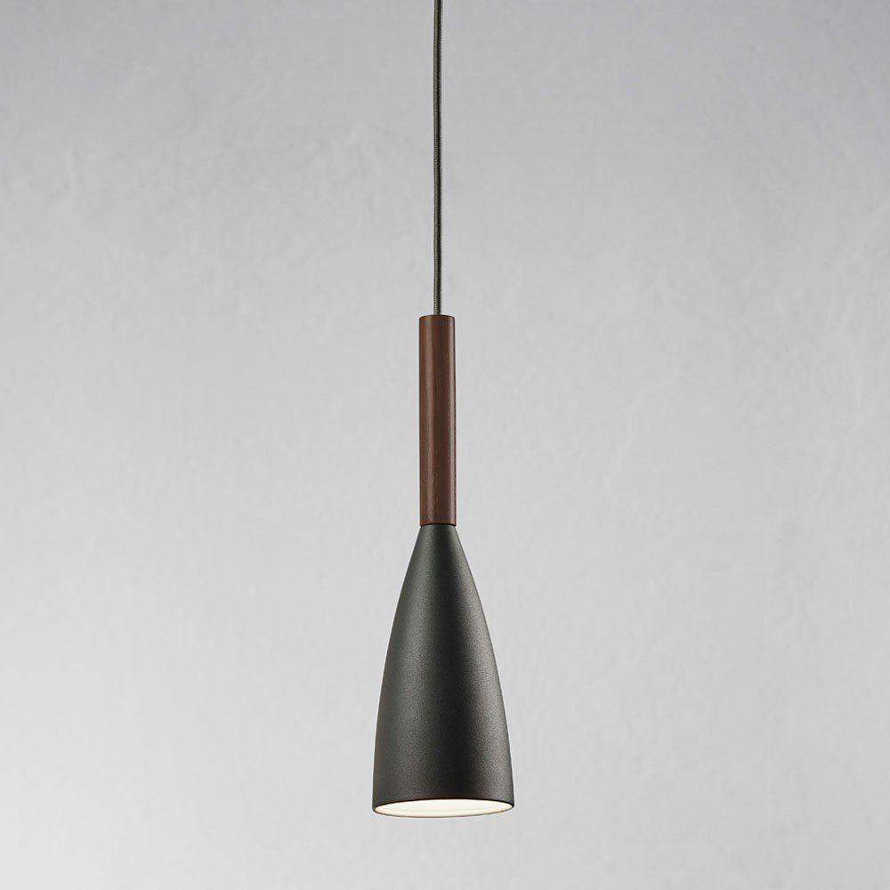 Licht-Trend Pendelleuchte »Balanda Ø 10cm mit Holz, anthrazit«