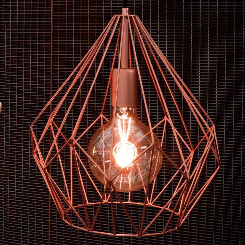 Metall Effekt Wandfarbe Kupfer: Licht-Trend Pendelleuchte »Bosco Metall- Im Vintage-Look