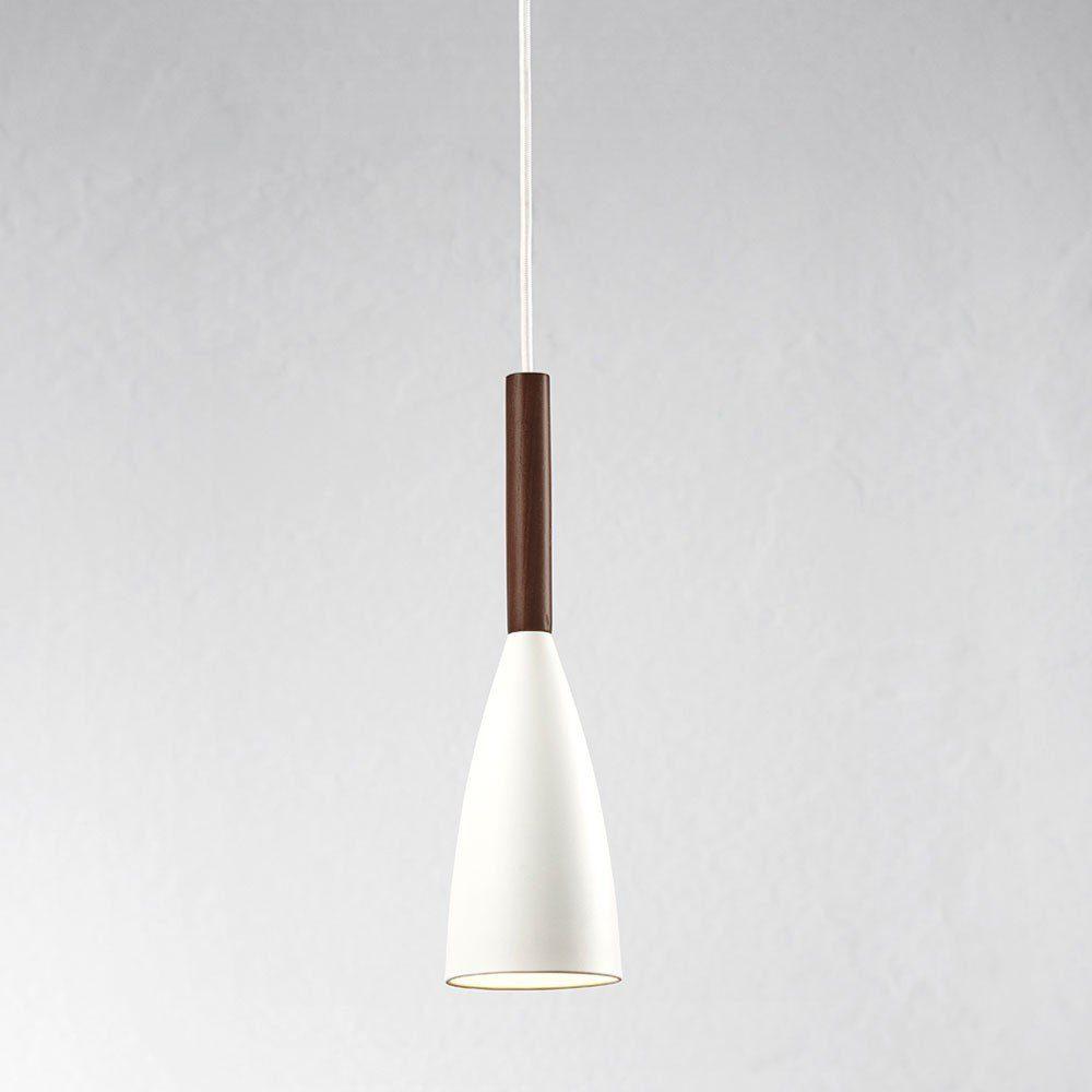Licht-Trend Pendelleuchte »Balanda Ø 10cm mit Holz, weiss«
