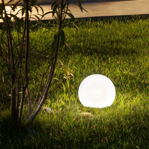 Licht-Trend Aussenkugel »Bolla Garten Ø 30cm in Weiß«