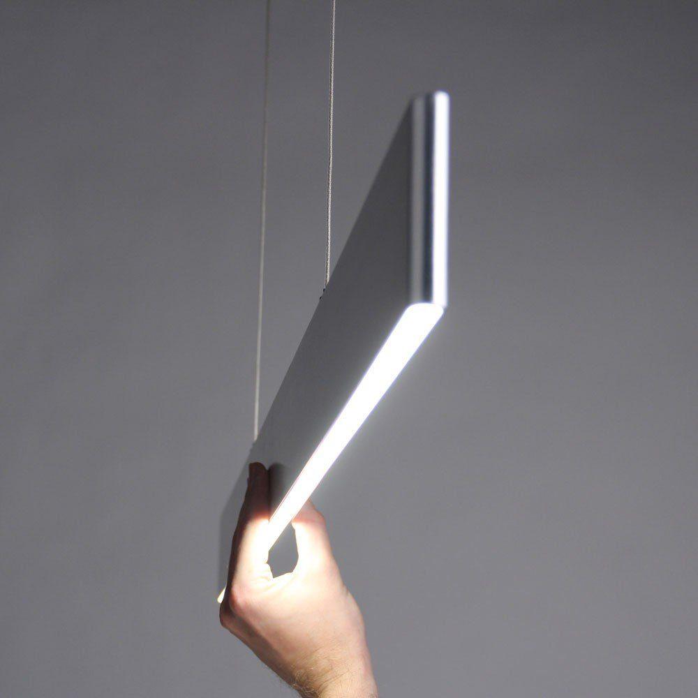 Licht-Trend Hängeleuchte »Slim LED mit 2730 Lumen in Alu-matt«