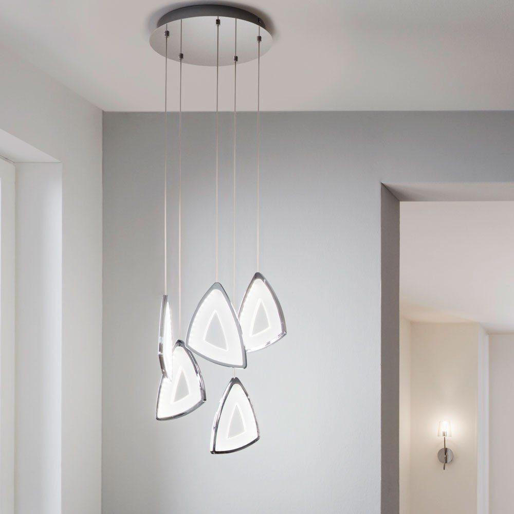 Licht-Trend Pendelleuchte »Amonde Emblem futuristische LED Chrom«
