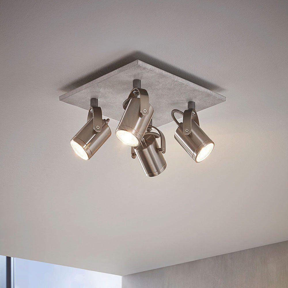 Licht-Trend Strahler »Ledge LED 4-flg. Betonoptik & Nickel-Matt«