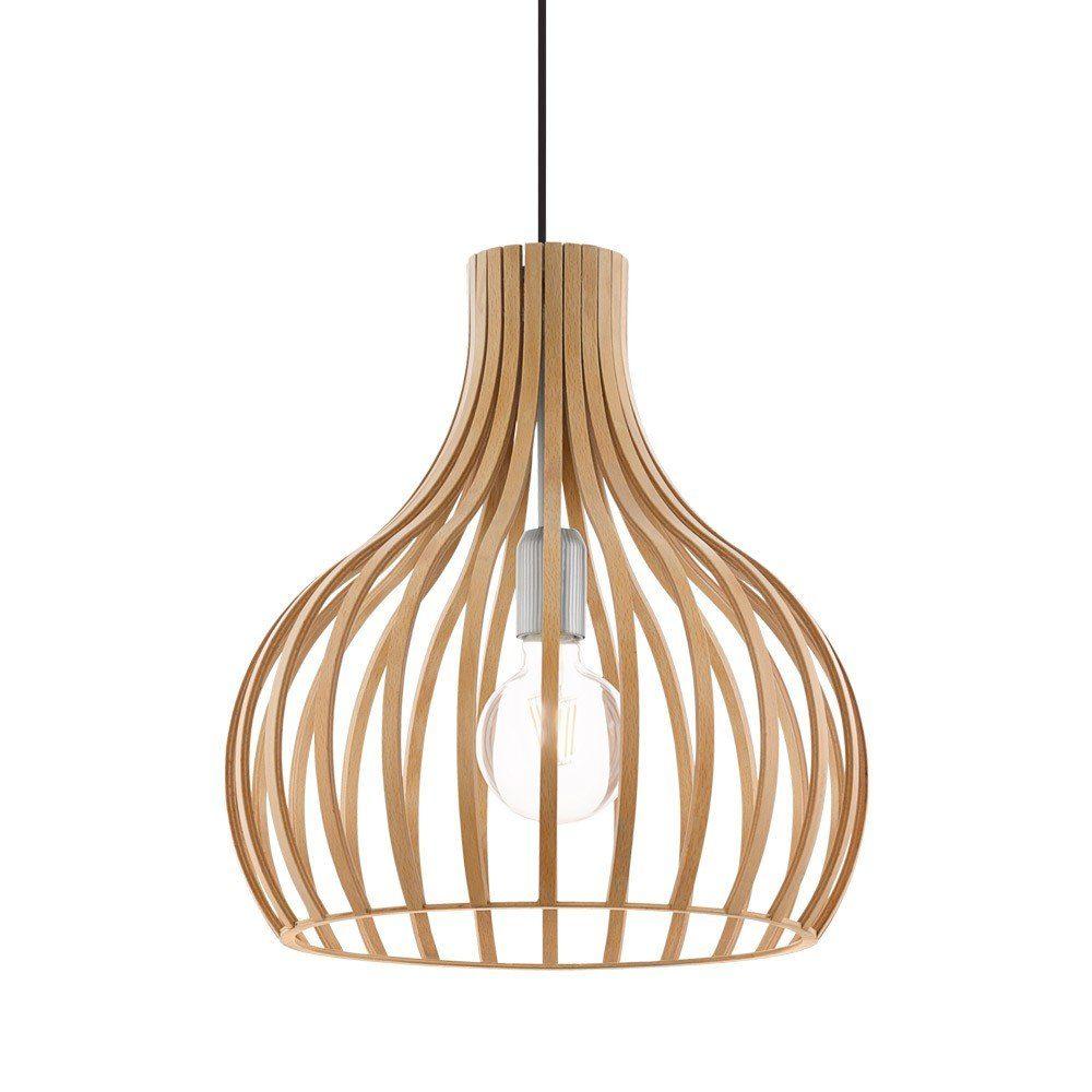 Licht-Trend Pendelleuchte »Woody Round Holz Ø 38cm in Buche«