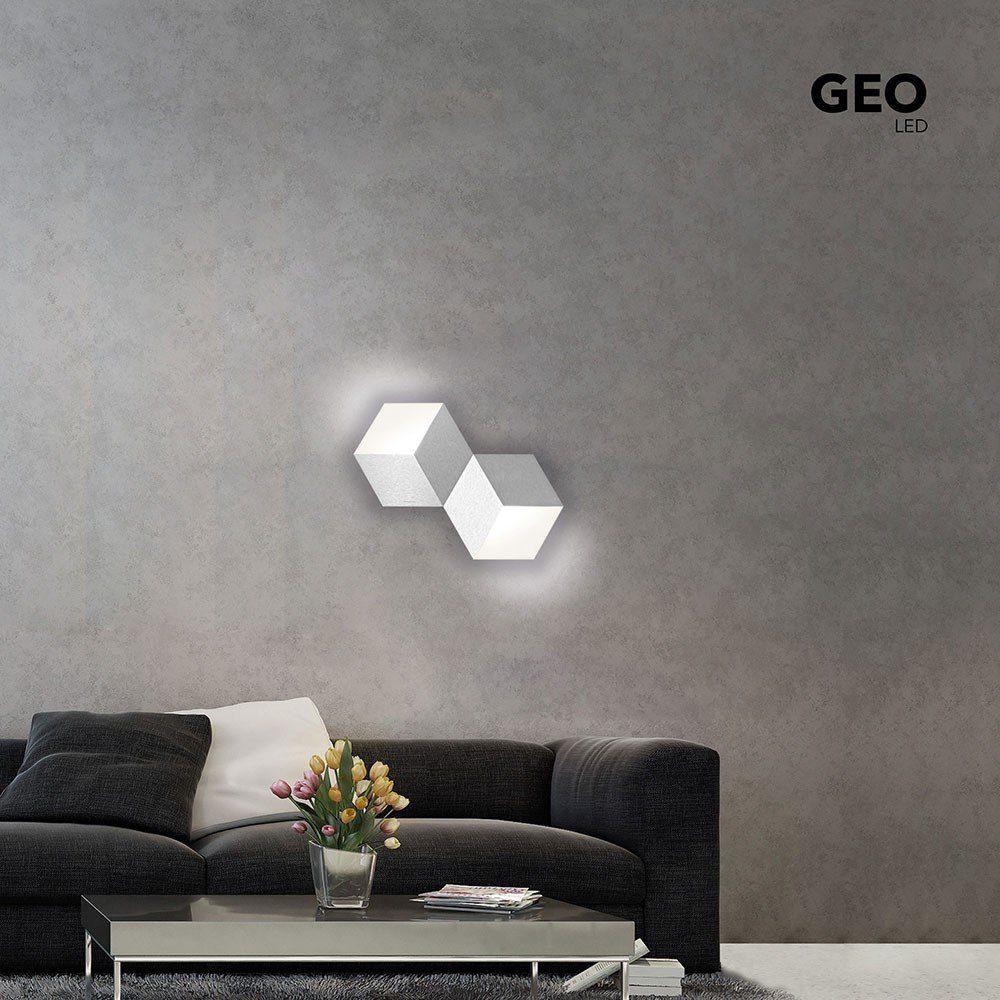 Grossmann LED-Deckenlampe »Geo 2-flammig 53 x 30cm Alu-matt«
