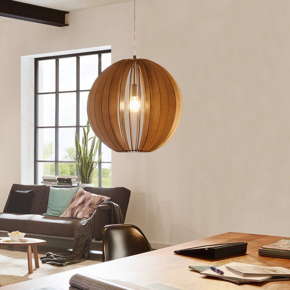 Licht-Trend Pendelleuchte »Rift XL Ø 50cm mit Holzschirm Bei«