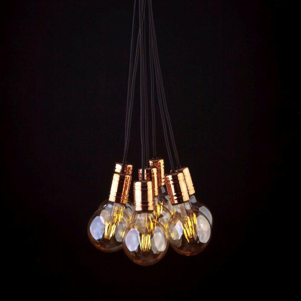 Licht-Trend Pendelleuchte »Socket 7-flammig E27 Kupfer-Schwar«
