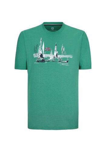 Herren Jan Vanderstorm T-Shirt WENDELMAR grün | 04056916309054