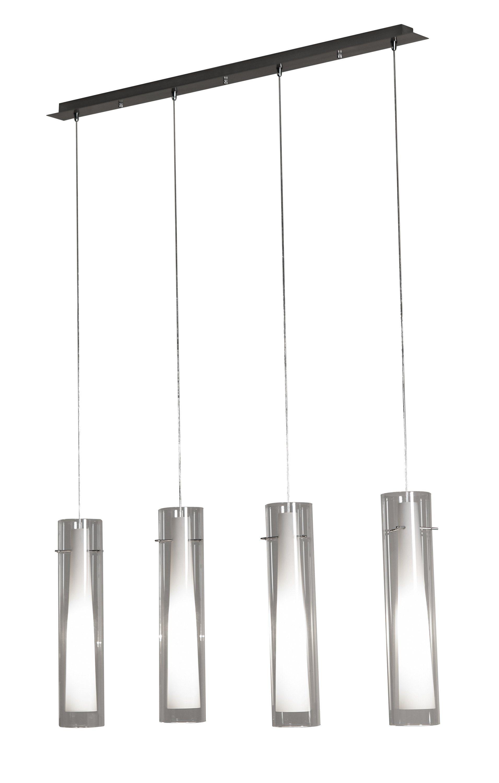SalesFever Hängelampe mit 4 zylindrisch konischen Lampenschirmen »Giuseppe«
