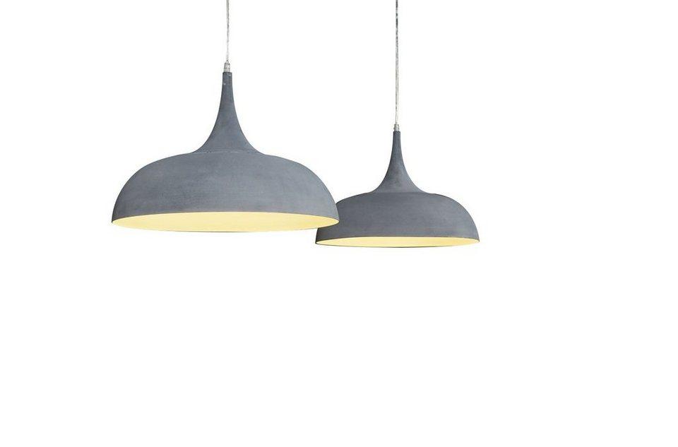SalesFever Hängelampe mit 2 Lampenschirmen Beton Optik 50 cm »Diego ...