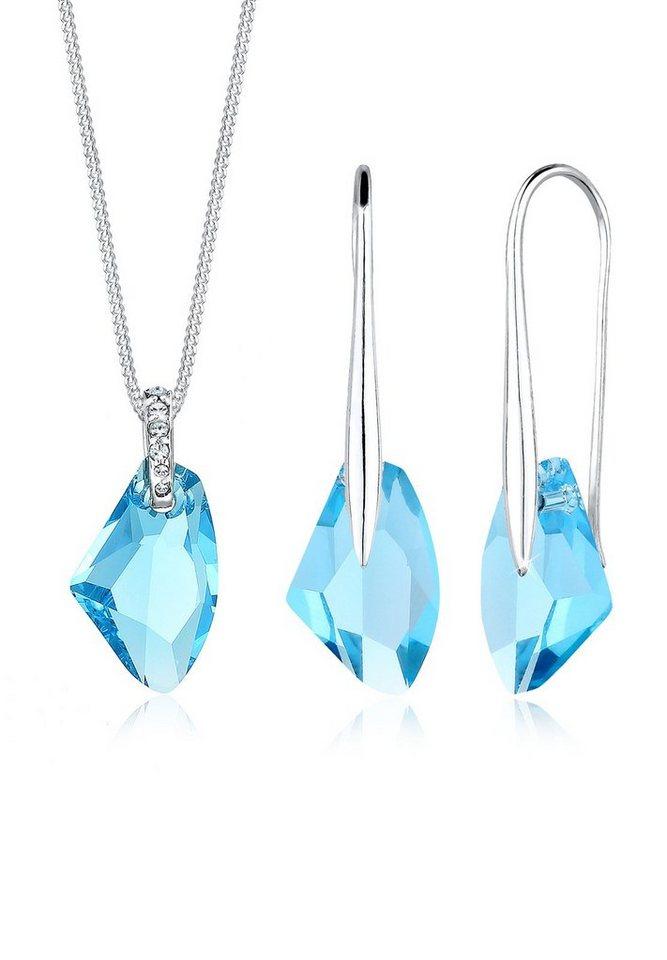 Elli Schmuckset »Galactic Swarovski® Kristalle 925 Sterling Silber« | Schmuck > Schmucksets | Elli