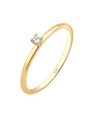 Diamore Diamantring »Verlobung Solitär Diamant (0.02 ct) 585 Gelbgold«