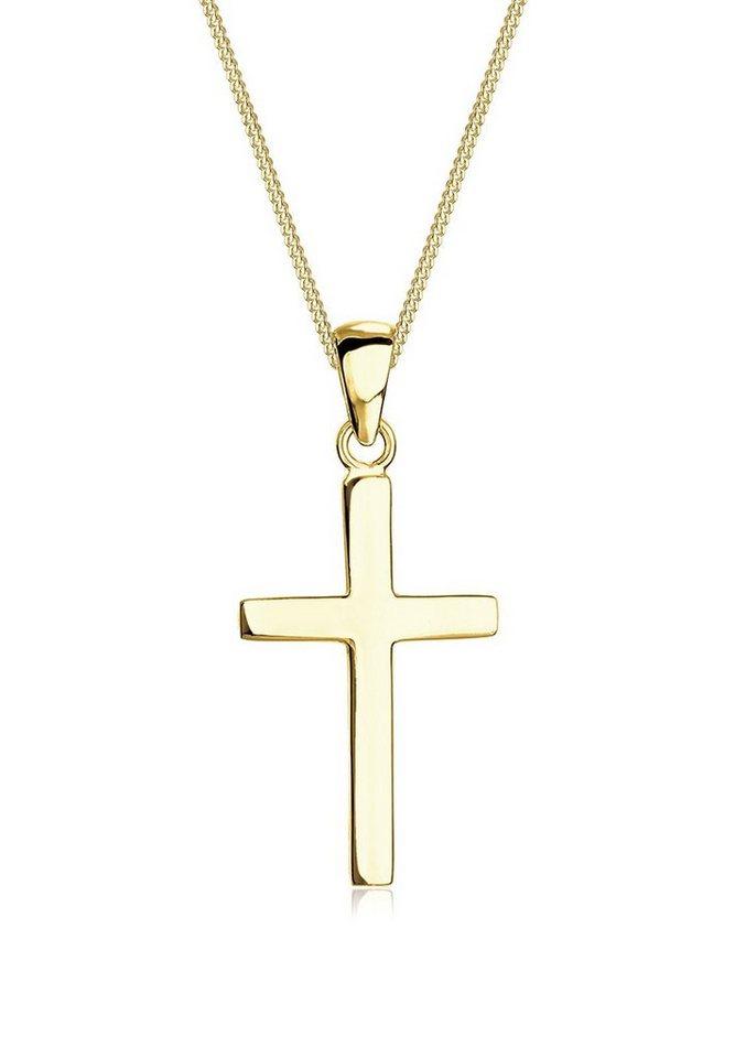 Elli Collierkettchen »Kreuz Konfirmation Kommunion Glaube 375 Gelbgold« 2d20df9a12
