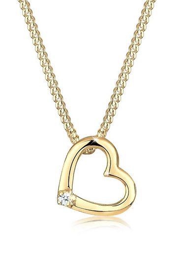 Diamore Collierkettchen »Herz Liebe Diamant (0.02 ct) 925 Silber«