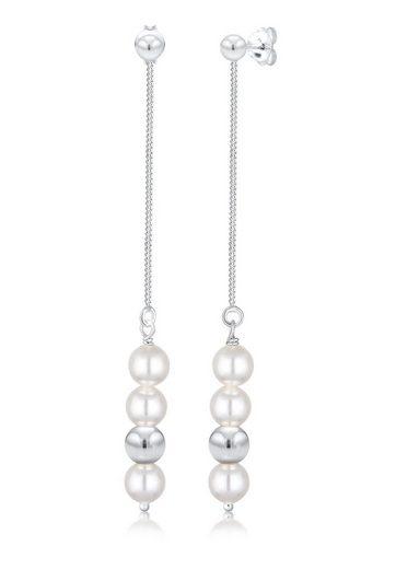 Elli Paar Ohrhänger »Hänger Perlen Geo Swarovski® Kristalle 925 Silber«