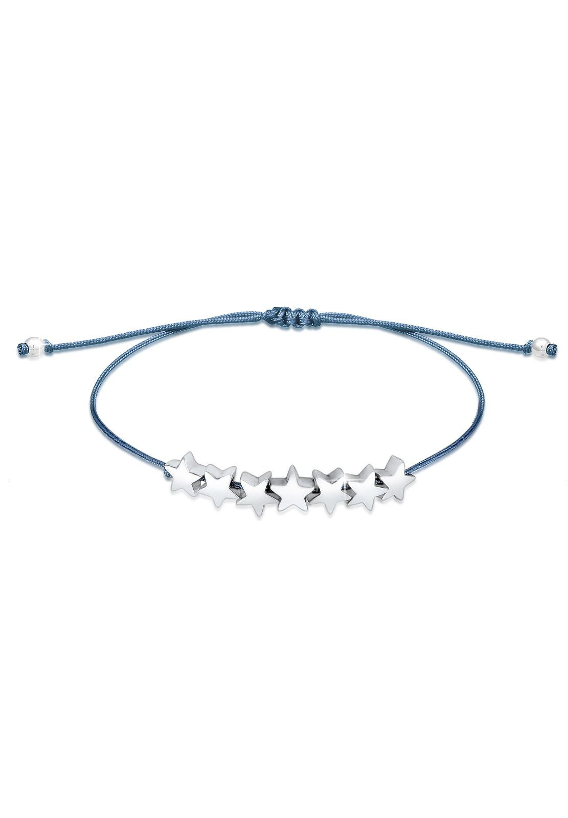 Elli Armband »Sterne Astro Nylon Band Basic 925 Silber Univers«