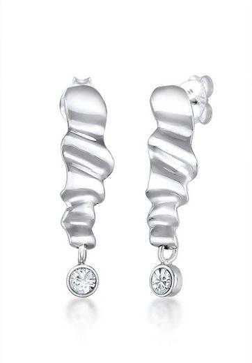 Elli Paar Ohrhänger »Hänger Wellen Geo Swarovski® Kristalle 925 Silber«