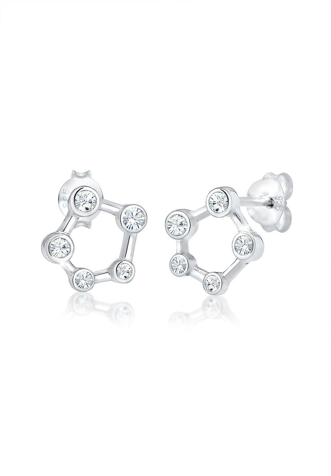 Elli Paar Ohrstecker »Astro Sternbild Swarovski® Kristalle 925 Silber«