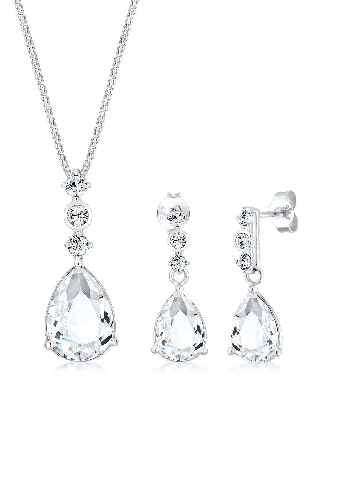 Elli Schmuckset »Set Tropfen Swarovski® Kristalle 925 Silber« online kaufen   OTTO