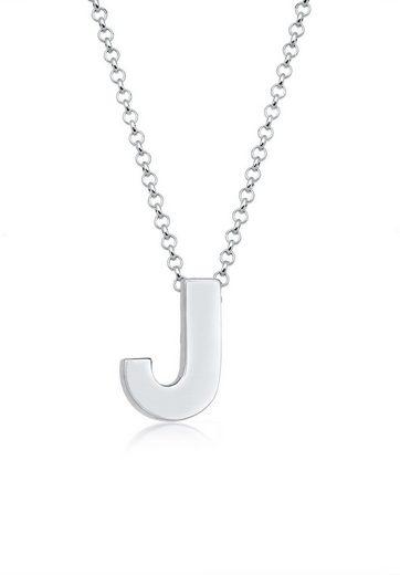 Elli Collierkettchen »Buchstabe J Initialen Trend Minimal 925 Silber«