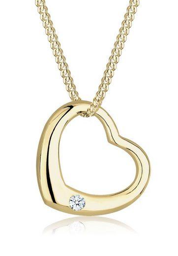 Diamore Collierkettchen »Herz Love Diamant (0.03 ct) 375 Gelbgold«