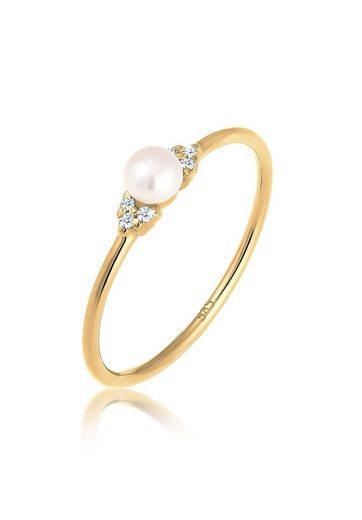 Diamore Diamantring »Verlobung Perle Diamant (0.03 ct) 585 Gelbgold«
