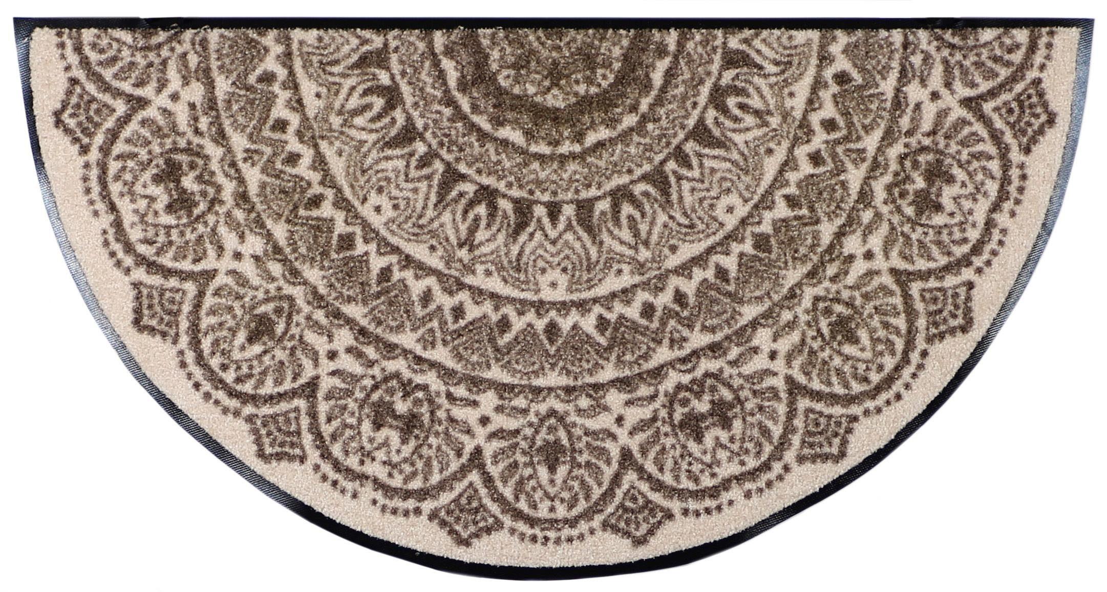 Fußmatte »Medallion«, Salonloewe, halbrund, Höhe 6 mm