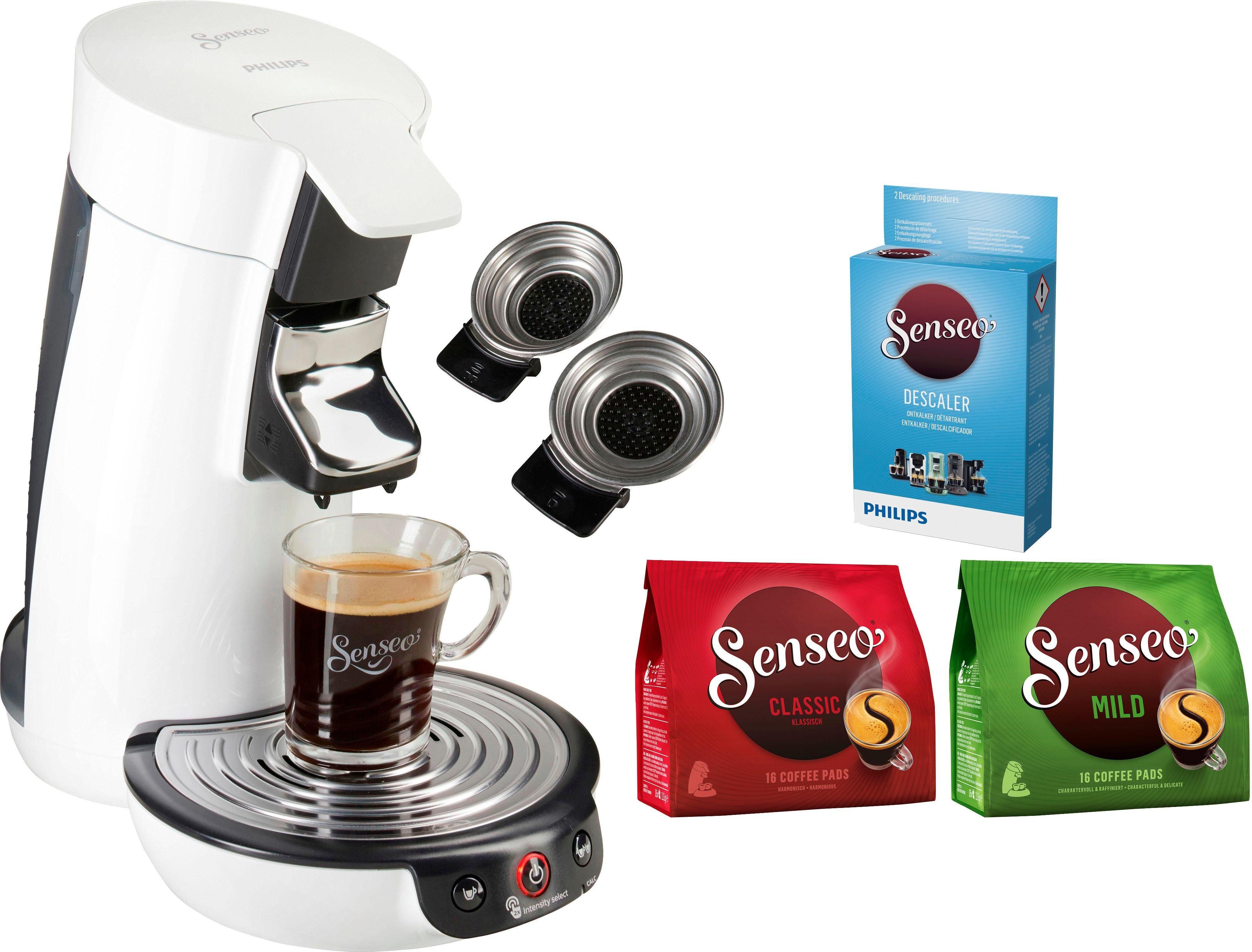 Senseo Kaffeepadmaschine SENSEO® Viva Café HD6563/00, inkl. Gratis-Zugaben im Wert von 14,- UVP