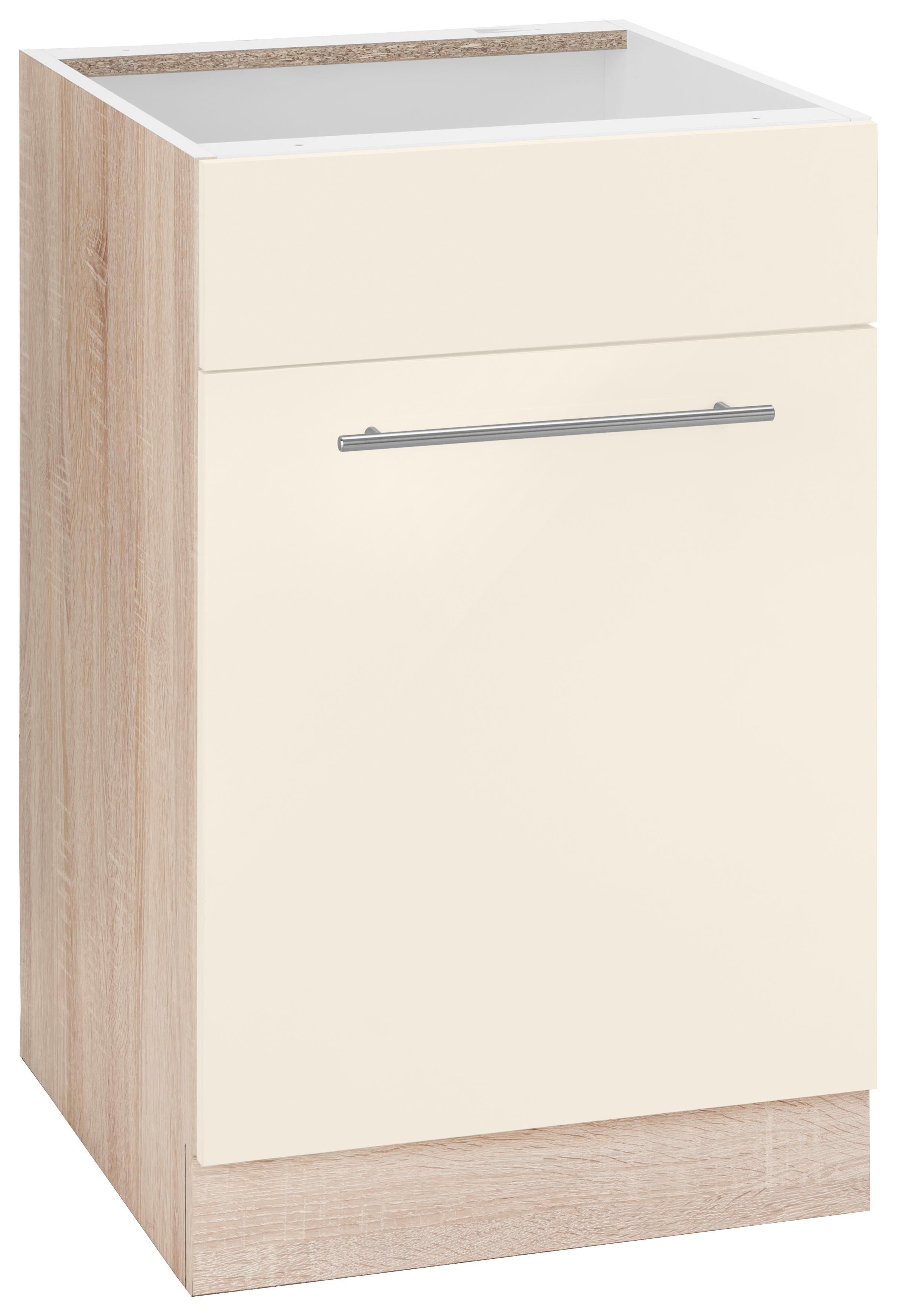 WIHO-Küchen Spülenschrank »Flexi2«, Breite 50 cm | Küche und Esszimmer > Küchenschränke > Spülenschränke | Weiß - Rot - Glanz | Melamin | wiho Küchen