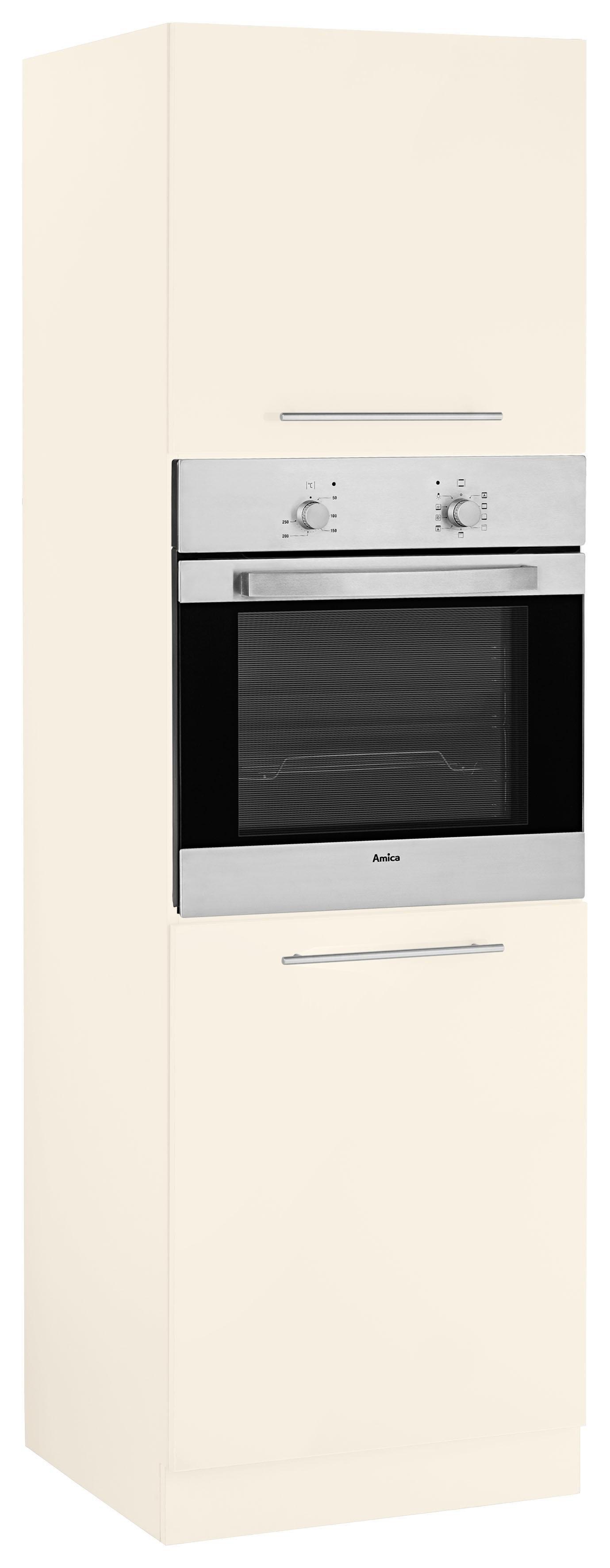WIHO-Küchen Backofenumbauschrank »Flexi2«   Küche und Esszimmer > Küchenschränke > Umbauschränke   Weiß - Rot - Glanz   Melamin   wiho Küchen