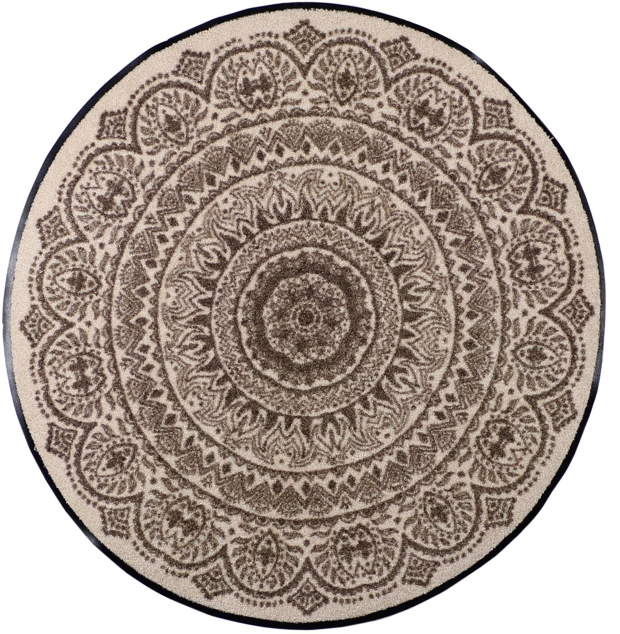 Fußmatte »Medallion«, Salonloewe, rund, Höhe 6 mm