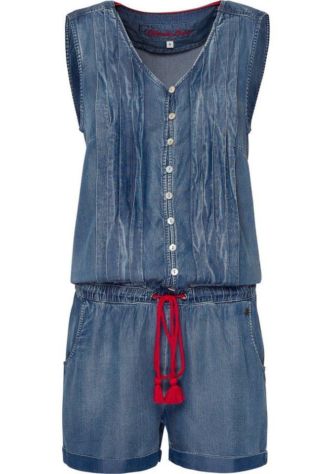 Damen COLORADO DENIM Jumpsuit Maryan mit gelegten Falten blau | 04058844299827