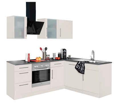 Wiho küchen winkelküche cali mit e geräten stellbreite 220 x 170