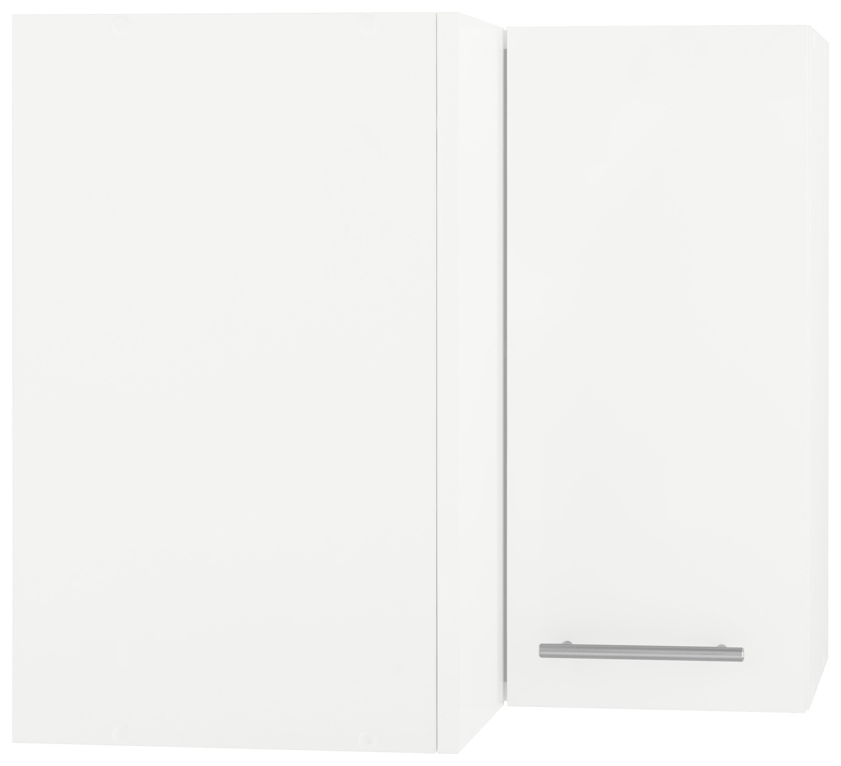 WIHO-Küchen Eckhängeschrank »Flexi2«   Wohnzimmer > Schränke > Weitere Schränke   Weiß - Rot - Glanz   Melamin   wiho Küchen