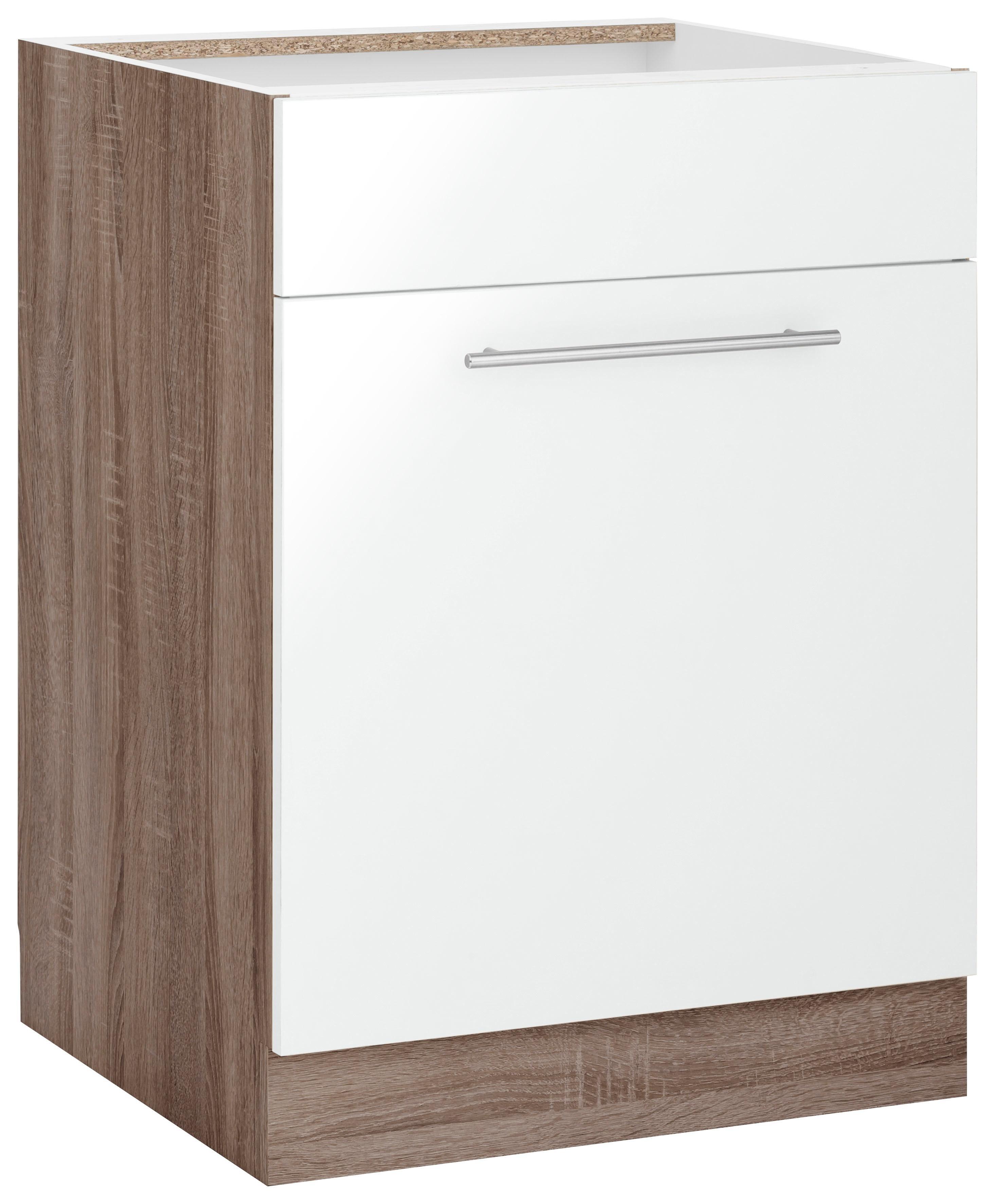 WIHO-Küchen Spülenschrank »Flexi2«, Breite 60 cm | Küche und Esszimmer > Küchenschränke > Spülenschränke | Weiß - Rot - Glanz | Melamin | wiho Küchen