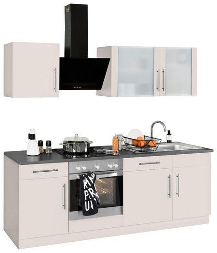 wiho Küchen Küchenzeile »Cali«, mit E-Geräten, Breite 220 cm