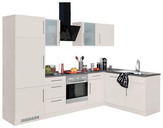 wiho Küchen Winkelküche »Cali«, mit E-Geräten, Stellbreite 280 x 170 cm