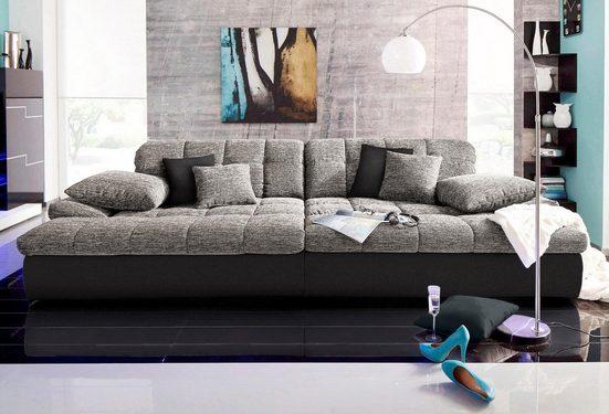 Nova Via Big-Sofa »Biarritz«, wahlweise mit Kaltschaum (140kg Belastung/Sitz) und RGB-LED-Beleuchtung