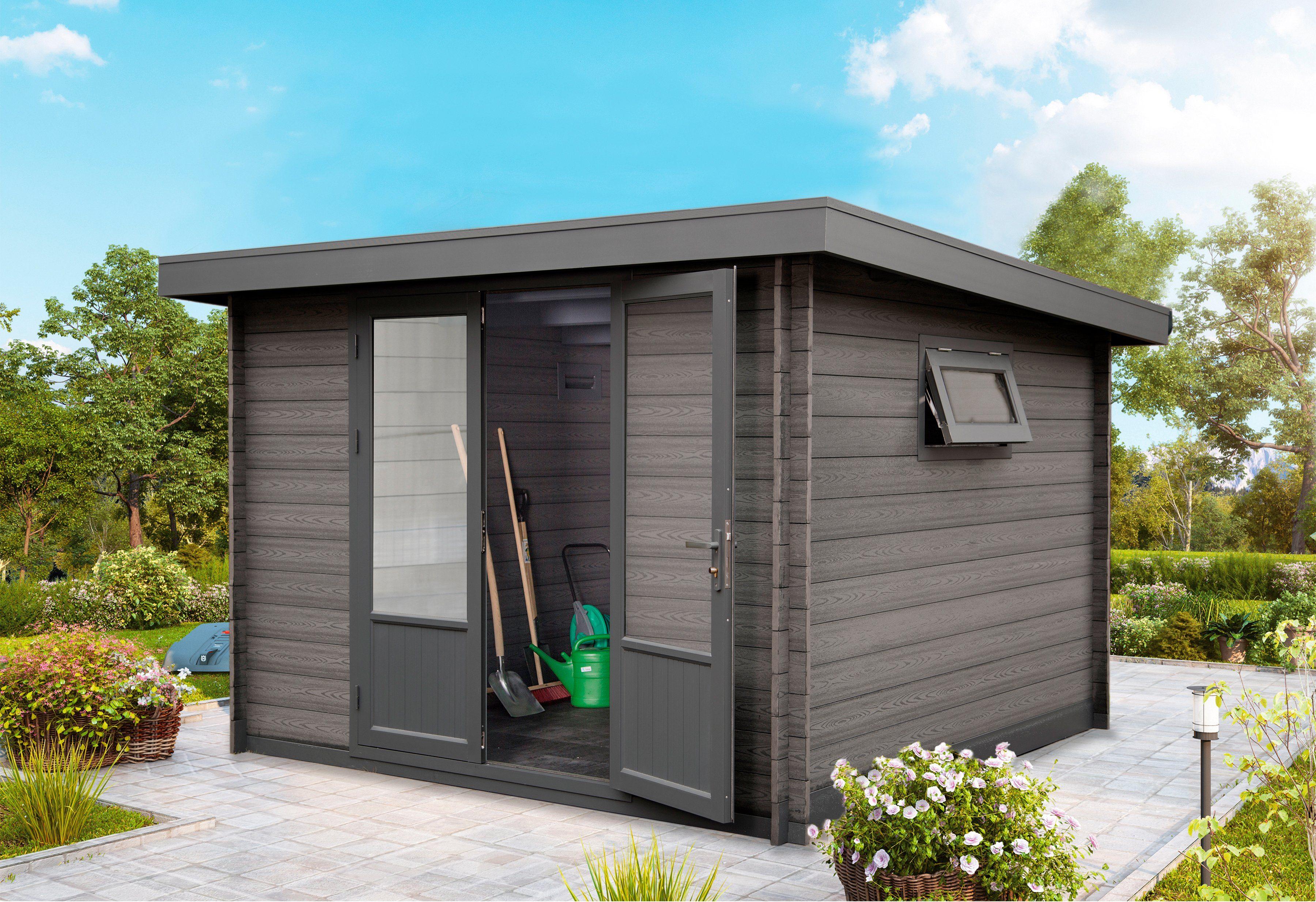WOLFF Gartenhaus »Trend D«, BxT: 340x332 cm