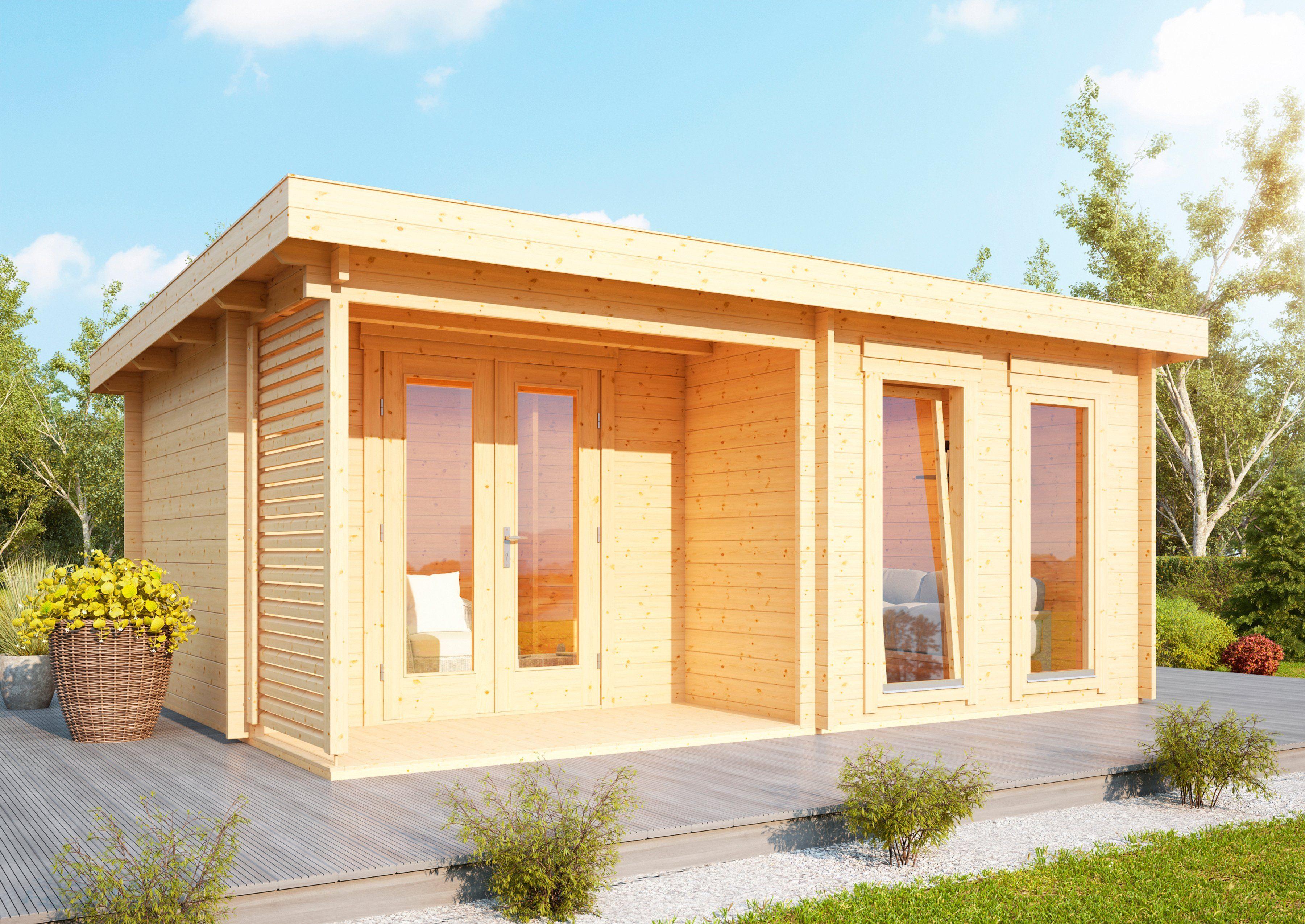 WOLFF Gartenhaus »Cordoba 44-B Modern«, BxT: 596x450 cm, inkl. Fußboden