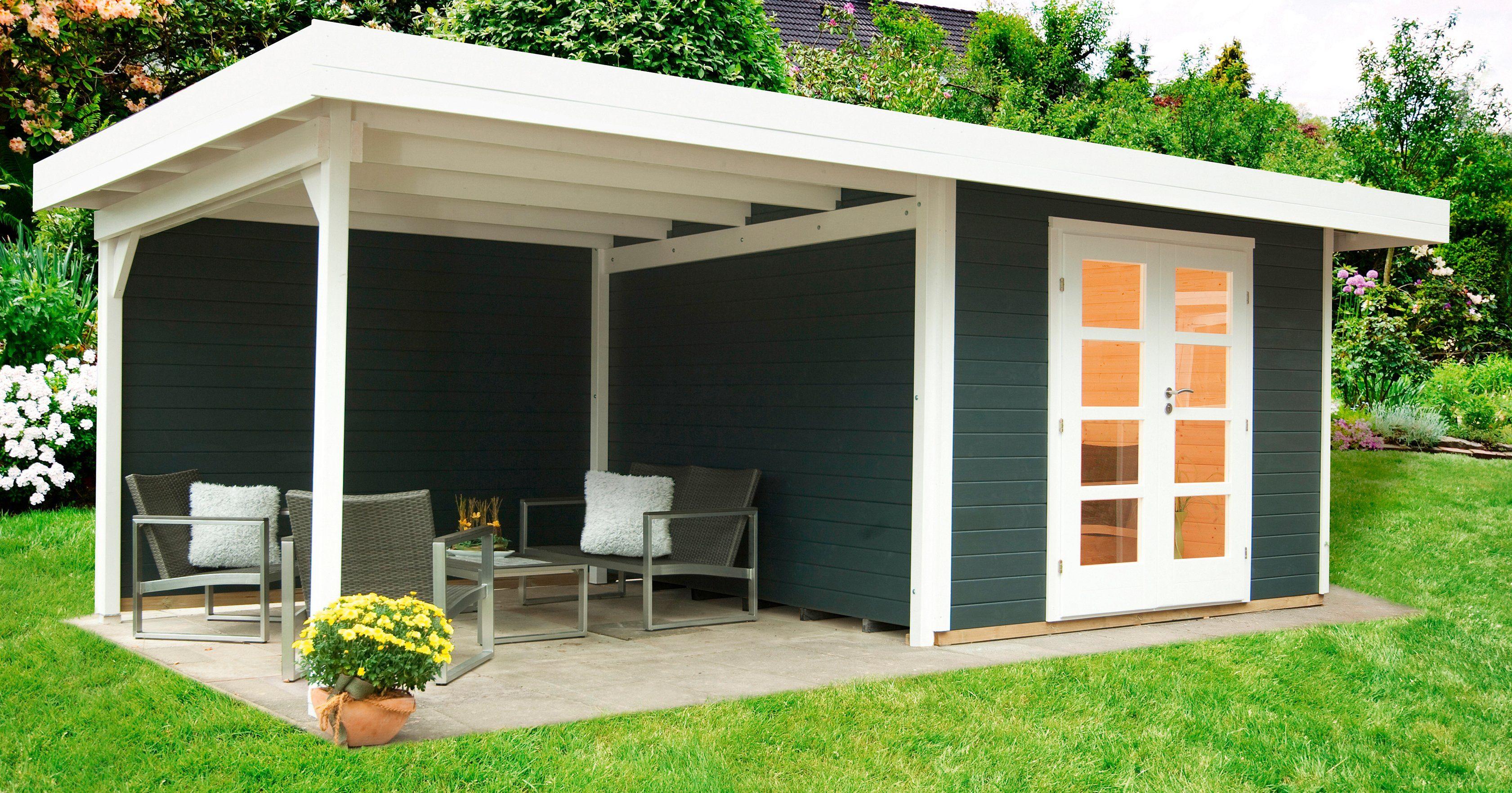 WOLFF Gartenhaus »Relax Lounge C«, BxT: 645x371 cm, anthrazit