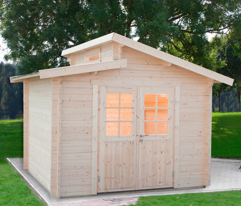 WOLFF Gartenhaus »Bornholm 40-B Typ 2«, BxT: 330x330 cm