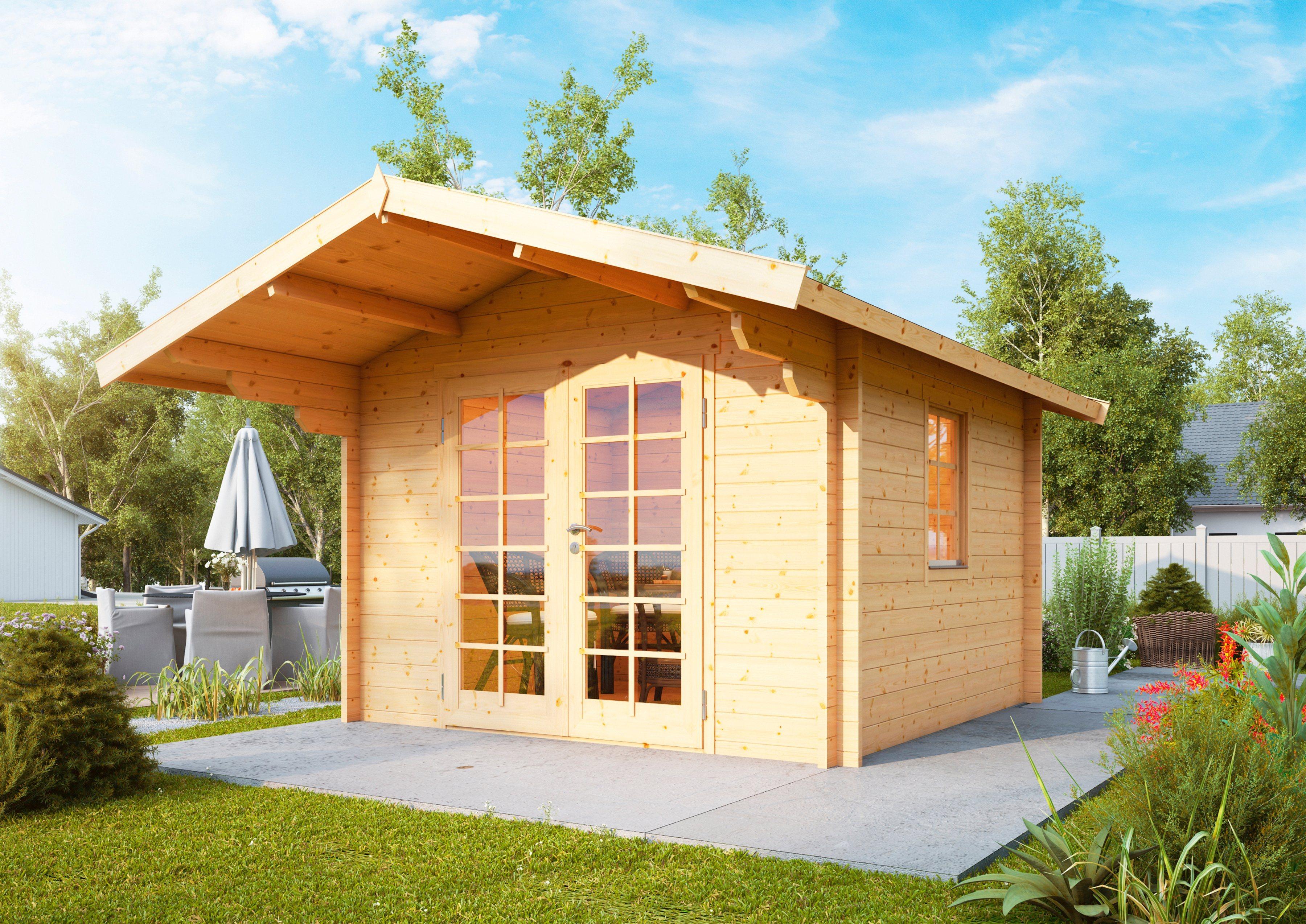 WOLFF Gartenhaus »Bergen 44-A«, BxT: 360x395 cm | Garten > Gartenhäuser | Wolff